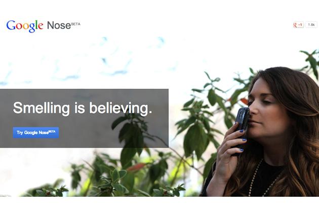 Google Nose Aprilscherze 2013