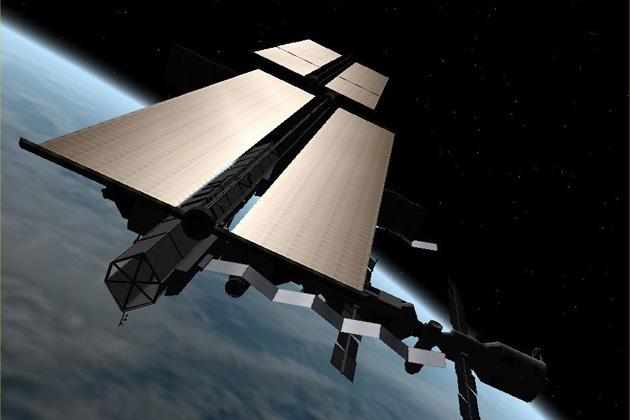 ISS-Raumstation-Position-Sonnensegel