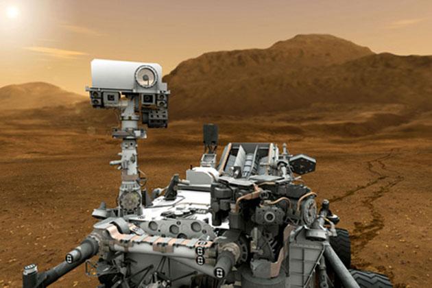 Mars-Rover Curiosity Bohrung