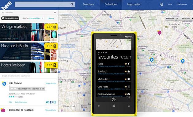 Nokia HERE Kartendienst