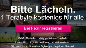 Yahoo Flickr Terabyte gratis Speicherplatz